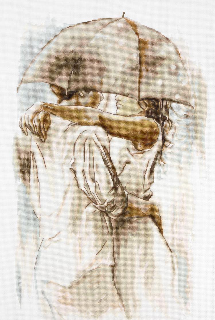 Вышивка крестом двое под зонтом схема 56
