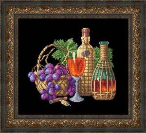Н-015 Бокал вина Набор для вышивания (счетный крест). Размер: 30 x 35 см. Производитель: Русский фаворит (Сделано с Любовью)