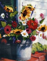 01534 Bucket of Flowers