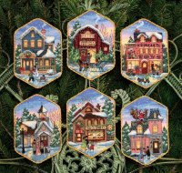 08785 Christmas Village Ornaments