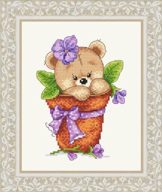 Мишка косолапый вышивка