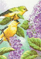 70-65153 Goldfinches and Lilacs