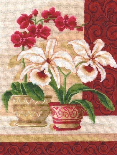 Набор для вышивания Сделай своими руками И-01 Изящные орхидеи
