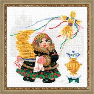 1518 Масленица. Блины Набор для вышивания Производитель: Риолис