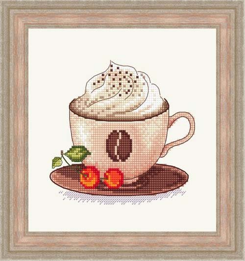 Вышивка крестом кофе со сливками