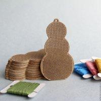 Основа для вышивки А014 Снеговик