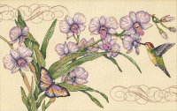 35237 Orchids & Hummingbird