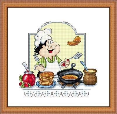 КТ-024 Блинчики Набор для вышивания Производитель Русский Фаворит (Сделано с любовью) Серия Кулинарный техникум