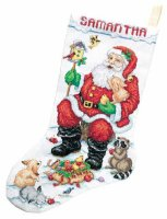 023-0210 Santa and Animals Stocking