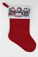 023-0220 Festive Snowmen Stocking