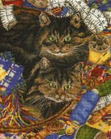 BK671 Cats in Needlework