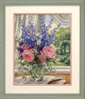 35257 Peonies and Delphiniums