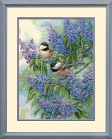 35258 Chickadees and Lilacs