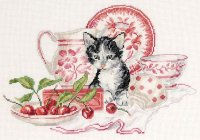 BK885 The Kitten and Cherries