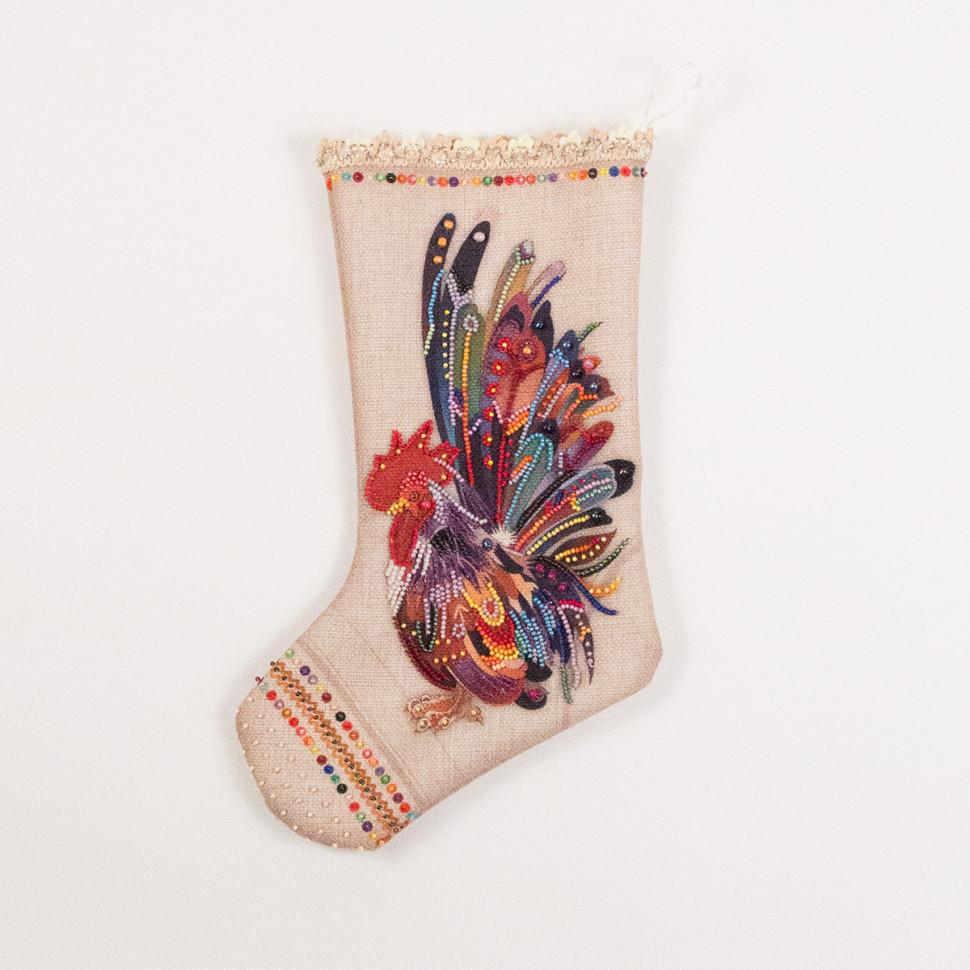 Носки с вышивкой бисером 90