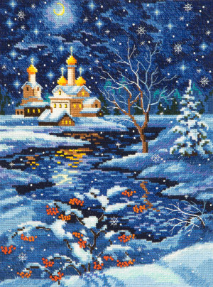 45-07 Рождество Набор для вышивания Чудесная игла, счетный крест, размер: 19 x 25