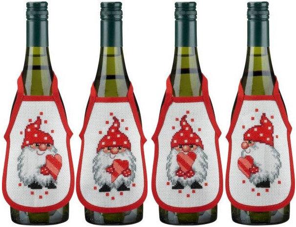 Фартуки для бутылок своими руками