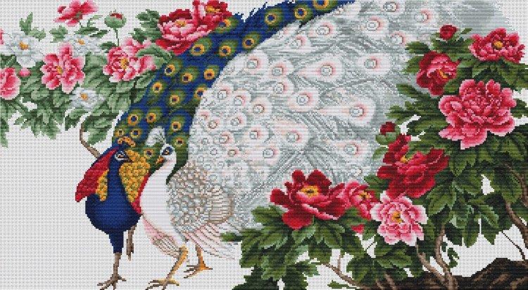 Набор для вышивания павлины
