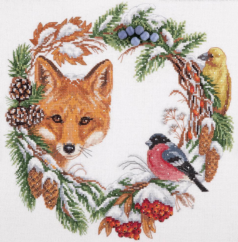 схема рождественский домик арт.98047 от кустом крафтс
