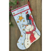 70-08924 Tall Hat Snowman Stocking